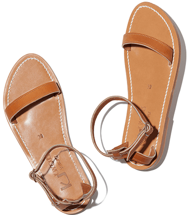 K Jacques brown sandals