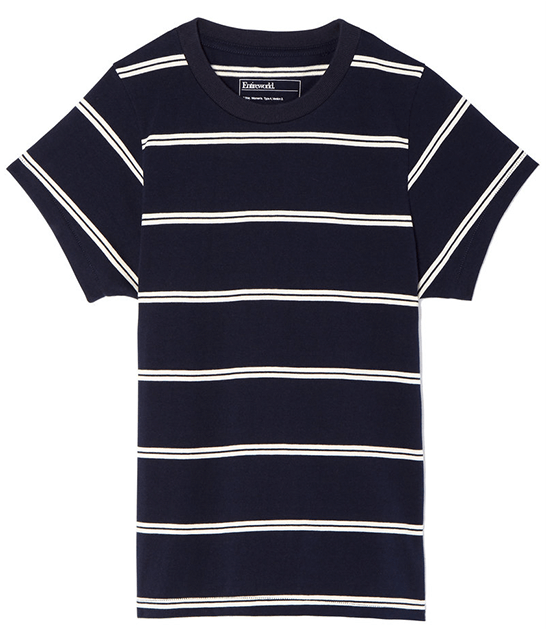 Entireworld striped black tee