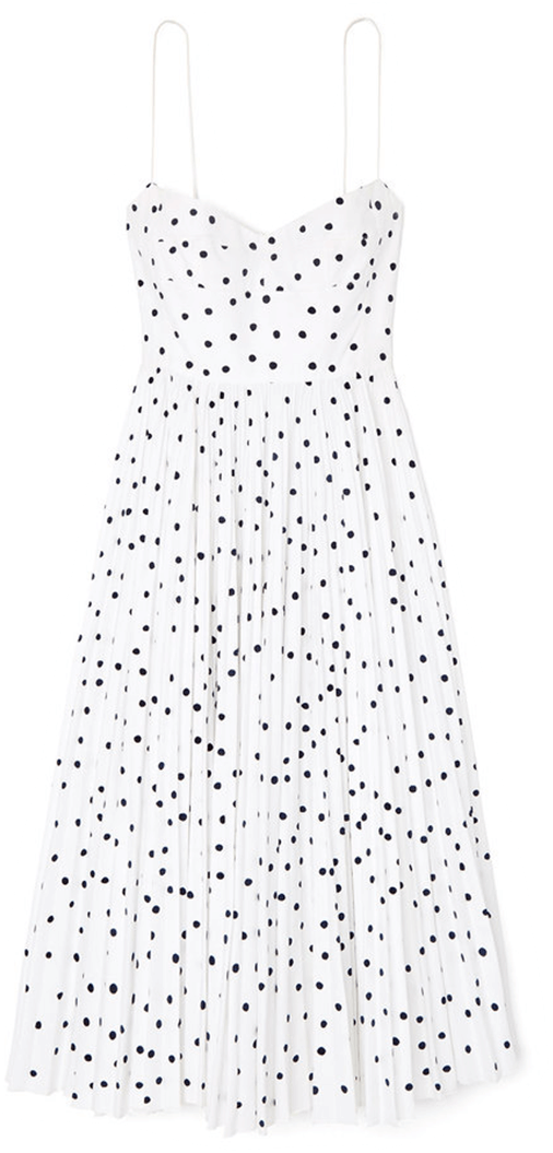 Khaite Pamela Polka-Dot Dress