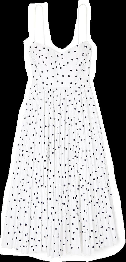 Khaite Pamela Polka-Dot Dress