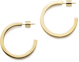jennifer fisher x goop gold hoop earrings
