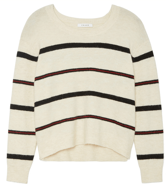 frame striped sweater