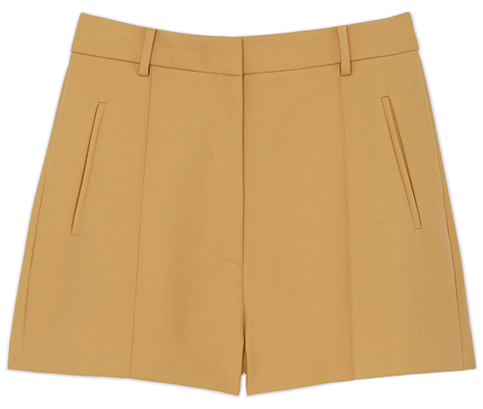 khaite brown shorts