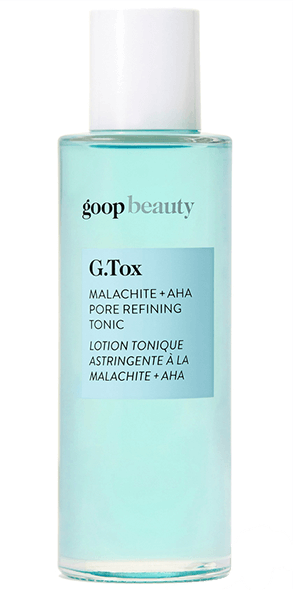 goop Beauty, G.Tox Malachite + AHA Pore Refining Tonic