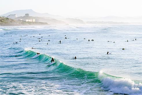 GRANDE PLAGE SURF HAVEN IN BIARRITZ, FRANCE