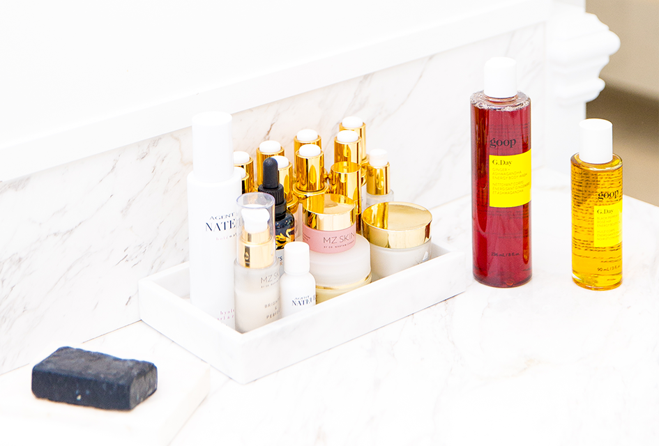 collection of goop Beauty products