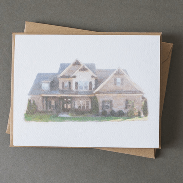 Jerry and Julep Custom Home Portrait Stationery
