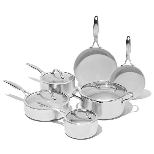 Greenpan Venice Pro Ceramic Non-Stick Cookware, 10-Piece Set