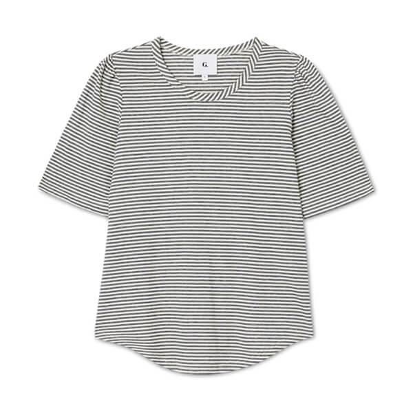 White and black striped tshirt
