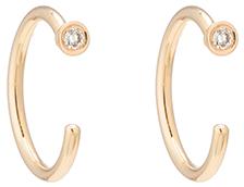 Gold hoop earrings with studs