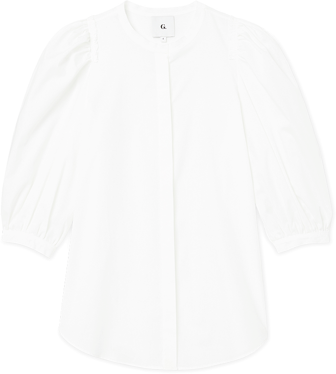 Gwyneth Paltrow with the Tracy Puff-Sleeve Button-Down