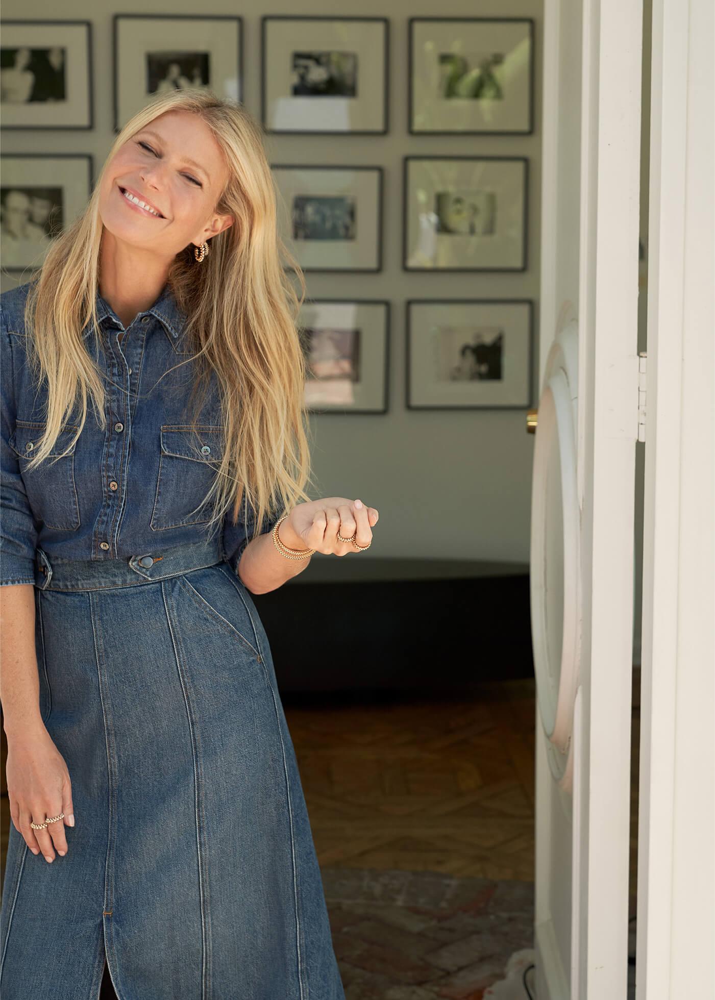 Gwyneth Paltrow with the Elise Denim Shirt