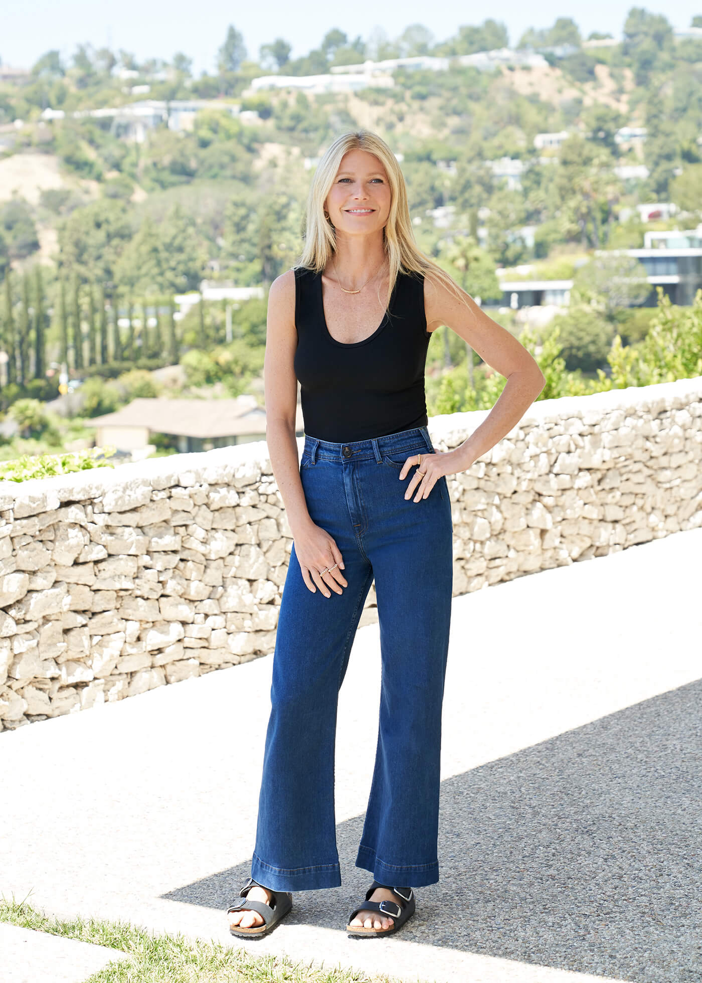 Gwyneth Paltrow with the Mel Jeans