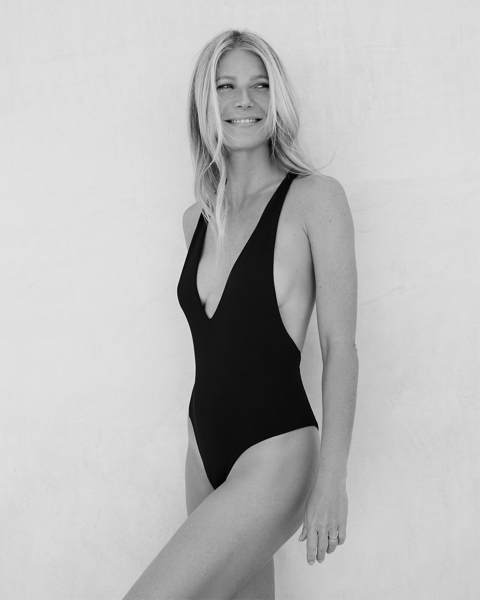 Gwyneth Paltrow with the V-Neck Maillot