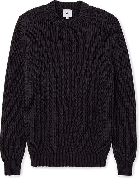 G. Label Men Mike Ribbed Boat Sweater