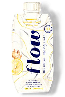 lemon ginger flow water