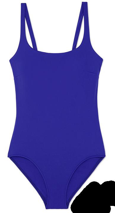purple one-piece