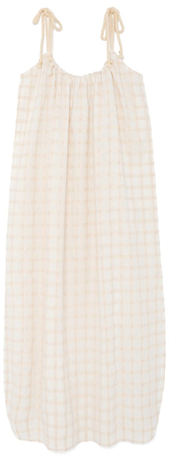 shoulder tie dress