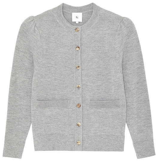 Grey button up cardigan sweater