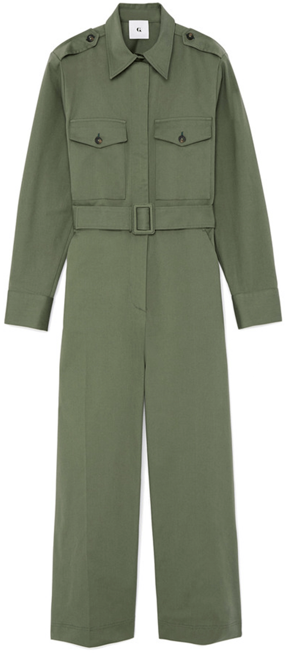 Green long sleeve jumpsuit