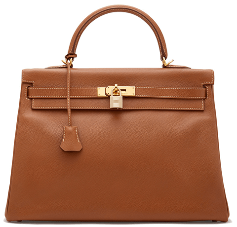 Hermès Vintage Courchevel Kelly Bag, 35cm