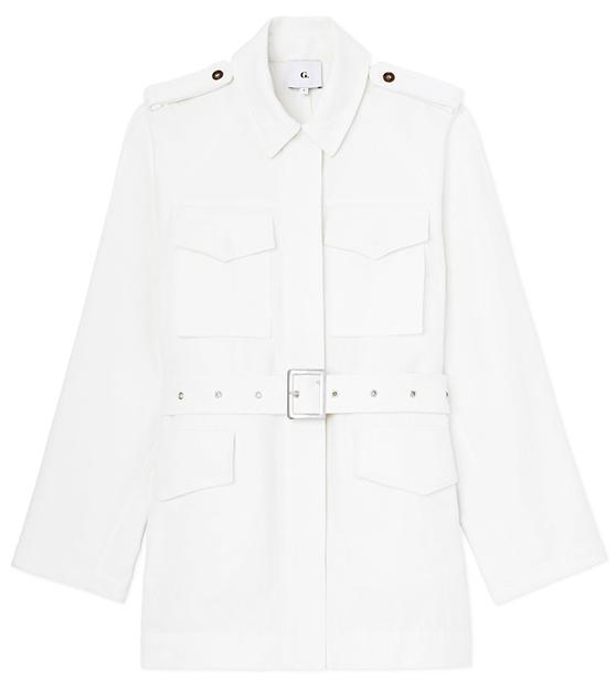 belted cargo jacket