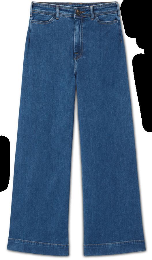 Dark wash jeans wide leg