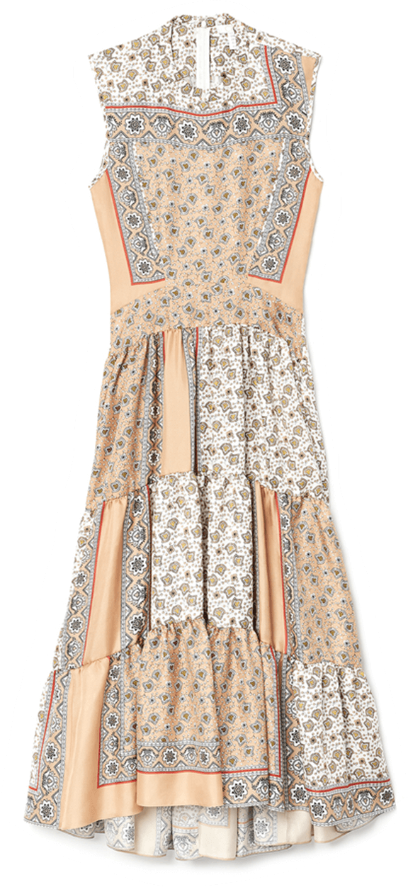 Chloé Long Bandana Print Dress