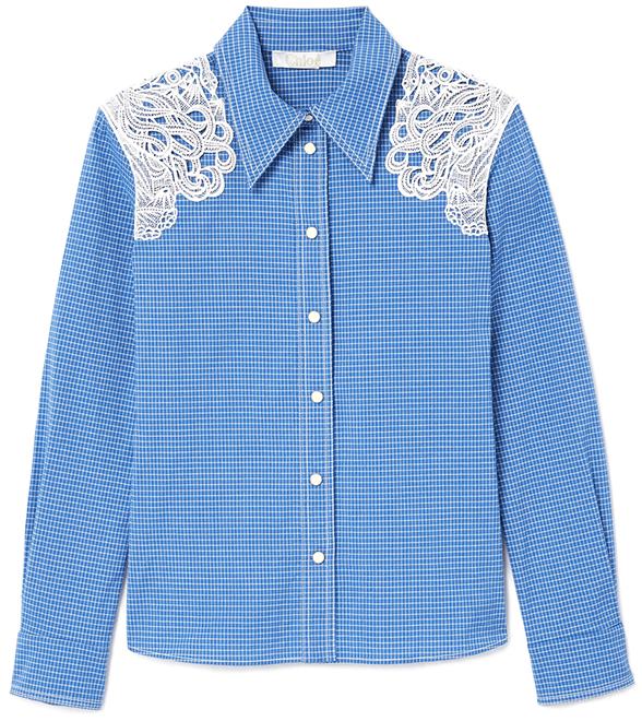 Chloé Lace-Shoulder Western Shirt