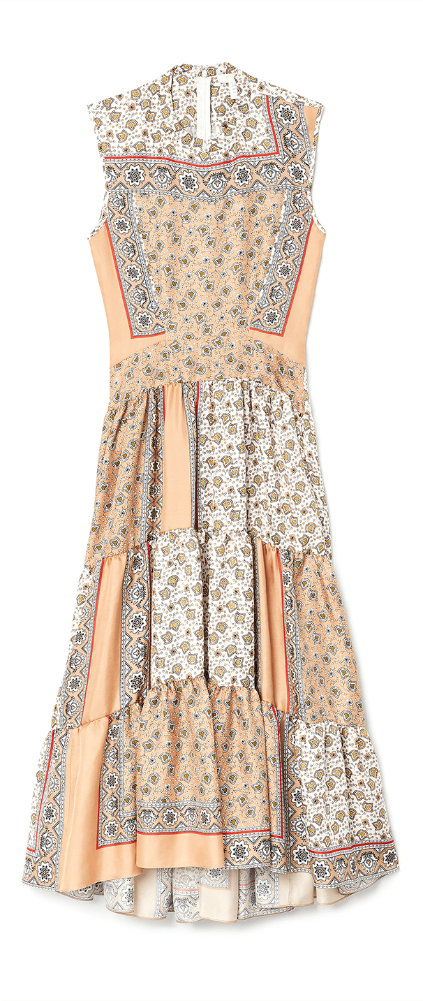 Chloé long bandana print dress