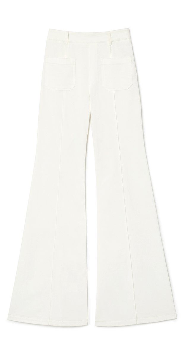 GOOP X CHLOé HIGH-RISE FLARE DENIM PANTS