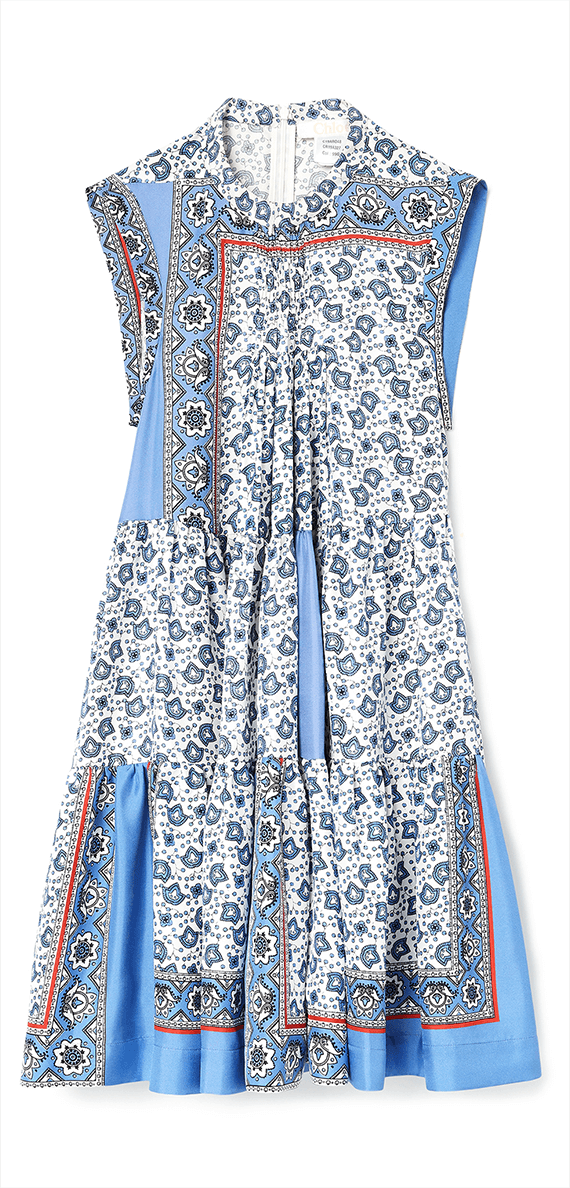 Chloé short bandana print dress