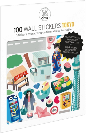 OMY Removable Tokyo Stickers