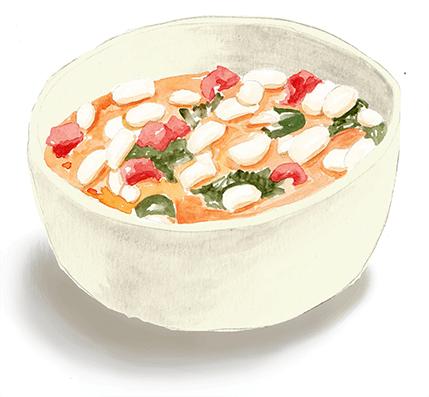 White Bean and Tomato Stew with Kale