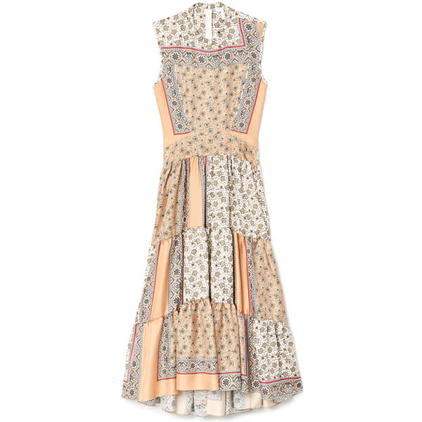 G. Label Sheely Puff-Sleeve Midi Dress
