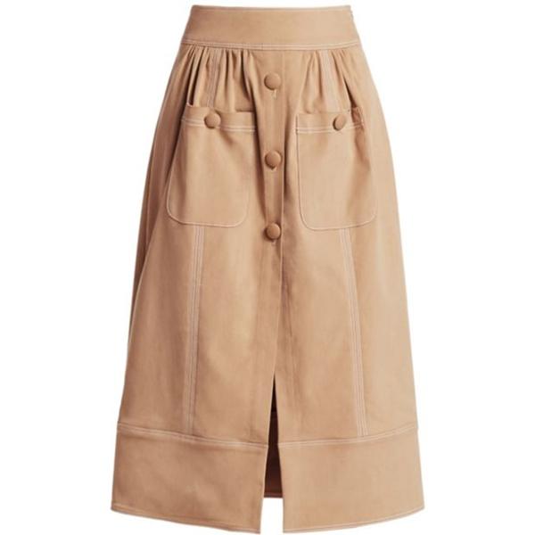 Rosie Assoulin Button Me Up Midi Skirt