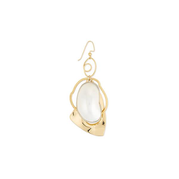 gold+pearl single earring