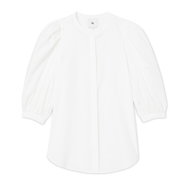 G. Label Tracy Puff-Sleeve Button-Down