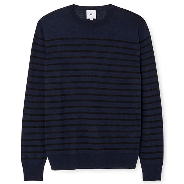 G. Label Tony Striped Linen Sweater