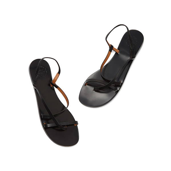 ATP Atelier Lizza Black Leather Sandals