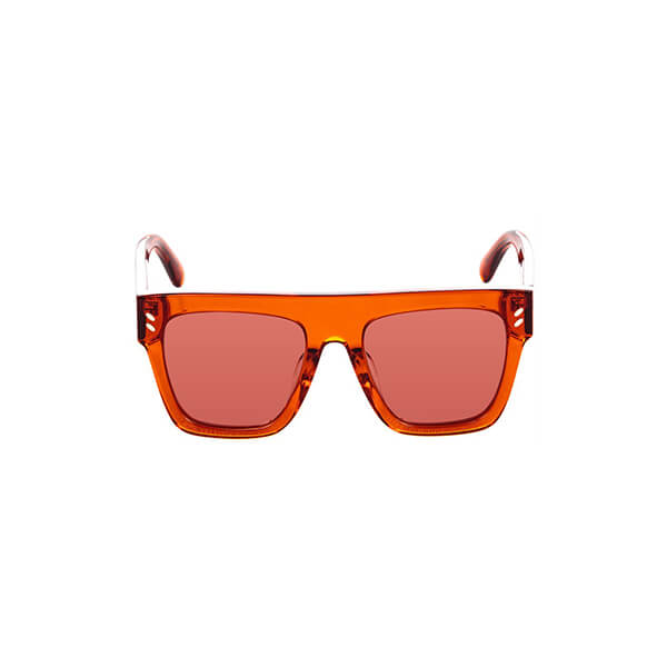 Orange loucite rectangular sunglasses