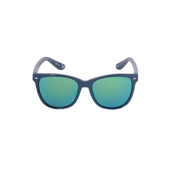 Blue frames with a shiny lighter blue lens