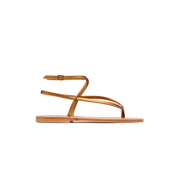 Bronze strappy sandal