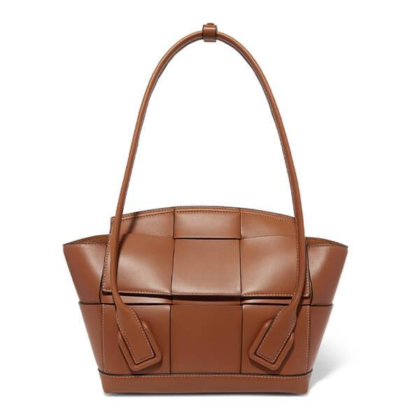 Bottega Veneta Arco Small Intrecciato Leather Shoulder Bag