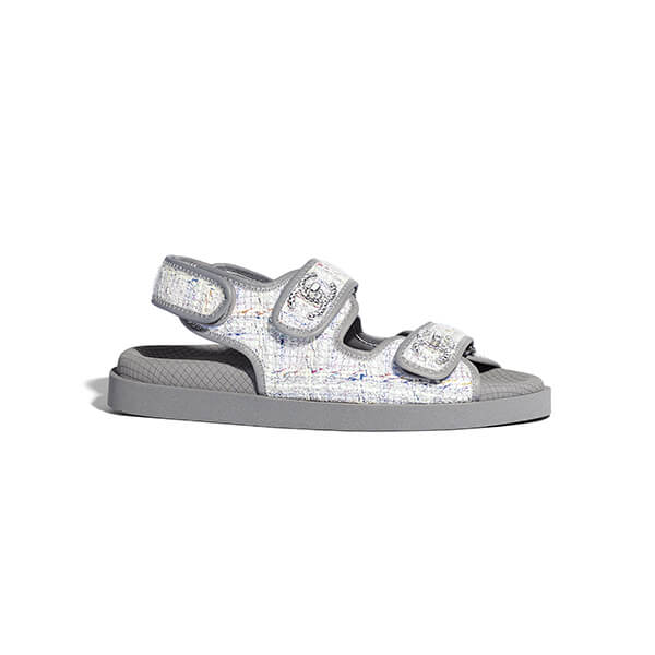 CHANEL gray sandals