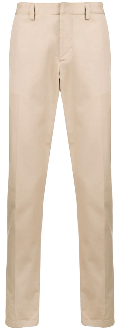 Khaki slim men's pants