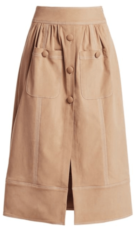 Rosie Assoulin Button Me Up Midi Skirt