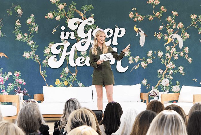 Gwyneth Paltrow In goop Health London