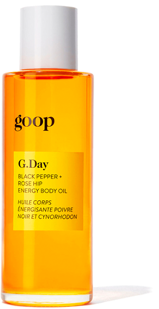 G.Day Black Pepper + Rose Hip Energy Body Oil