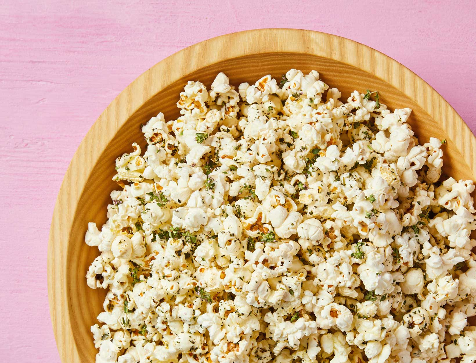 Olive Oil and Herb Popcorn